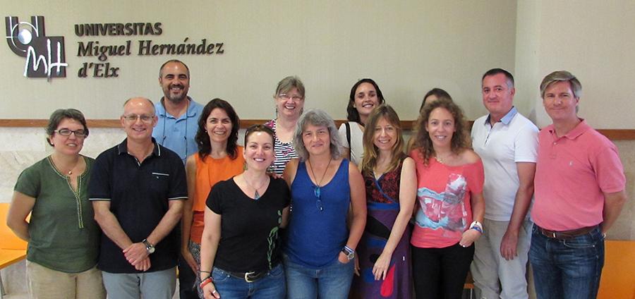 Parte del equipo del Servicio de Relaciones Internacionales, Cooperación al Desarrollo y Voluntariado