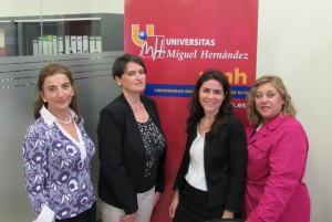 Elena Gonzálex, Anne Gaber, Imaculada Blaya, and Juana Aznar.
