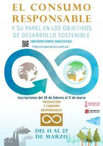 Consumo responsable y su papel en los objetivos de desarrollo sostenible UMH cartel