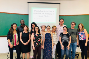 Graduate class of the international course at FMUSP.