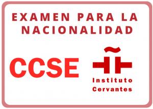 Examen para la nacionalidad CCSE Instituto Cervantes logo Exámenes oficiales