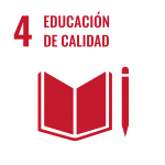 4 Educación de calidad estudiantes icono
