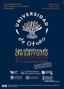 Cartel Universidad de Otoño universidades valencianas