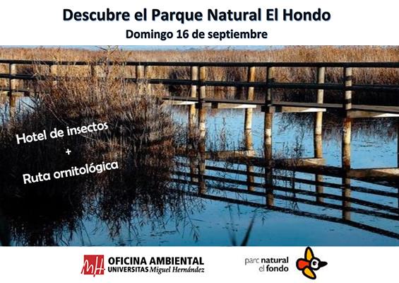 Cartel Parque Natural El Hondo Club Erasmus UMH