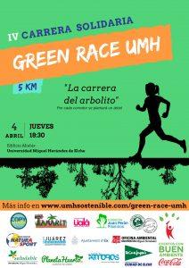 Cartel IV Carrera Solidaria Green Race Club Erasmus UMH