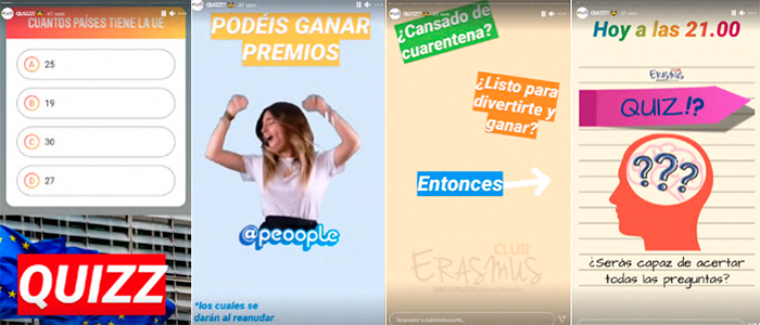 Quizz Cuarentena Erasmus Club UMH stories