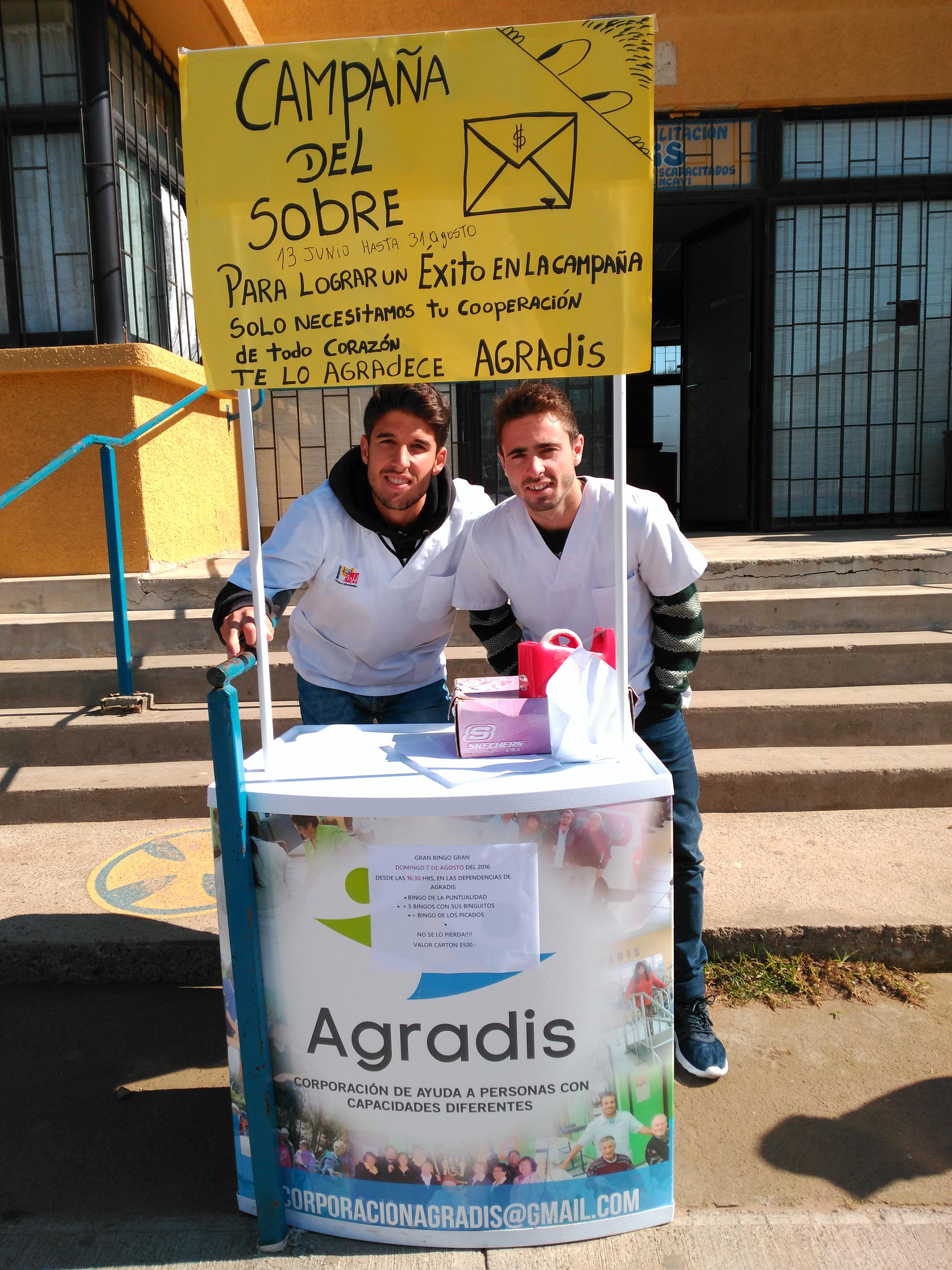 Gabriel y Marco durante su estancia en Chile